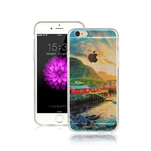 Pour Apple iPhone 6 Plus (5,5 Pouces) Coque ZeWoo® Étui en Silicone TPU Housse Protecteur - AK020 / La Neige AK013 / La Maison Rouge