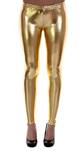 FK Styles Damen Kurze Hosen Harley Quinn Selbstmord Kader Multi Farbe Hot Sexy & Gamaschen (XL = 44-46, Gold)