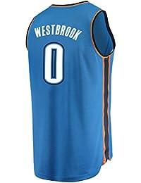 XAELTHL Camisa Bordada Aficionados Thunder Westbrook Jersey para Hombre (Azul, L)