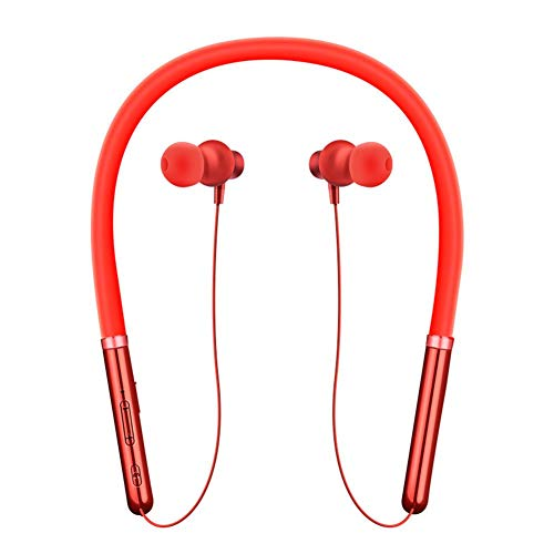 Changseo Q30 - Auriculares inalámbricos con Bluetooth y Auriculares estéreo, Rojo