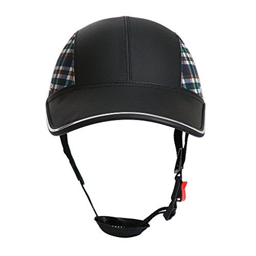 FLAMEER Sport Kappe Mütze Cap Fahrradhrlm Radhlem Baseball Cap Schutzhelm für Herren Damen - Schwarz mit Muster