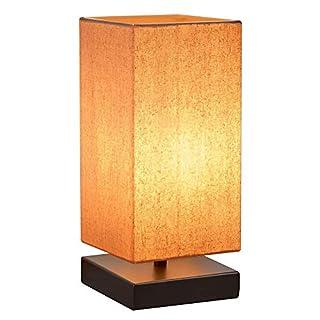 Nachttischlampe Dimmbar HENZIN Nachttischlampe für Schlafzimmer,Tischlampe Retro,Schreibtischlampe mit Lampenschirm,Touch-Bedienung 5 Helligkeitsstufen Nachttisch-Leuchte für Kaffeetisch and Büro