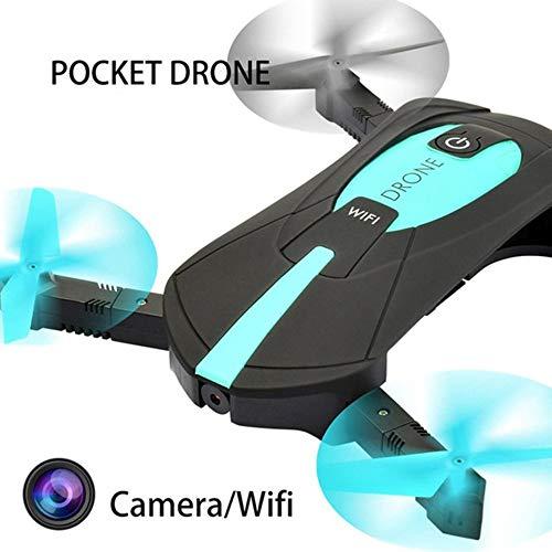 LNLJ Mini WiFi FPV UAV con Fotocamera da 2 megapixel HD Video in Diretta comprimibile Quadcopter App Controllo Altezza Tenere/Pista di Volo Blu