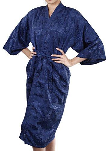 Lofbaz Accappatoio da Donna Comodo Design #6 Blu scuro