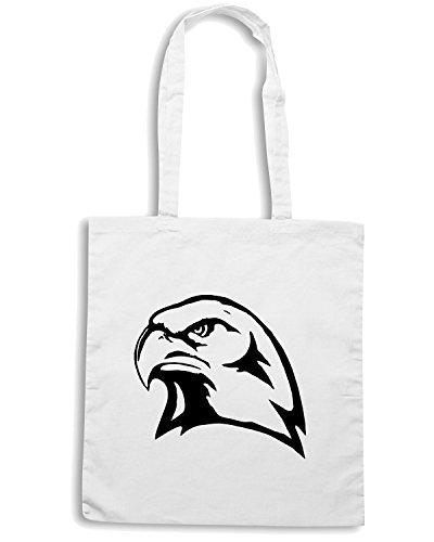 T-Shirtshock - Borsa Shopping FUN0784 bird birds animal car or wall vinyl decal sticker 13 59736 Bianco