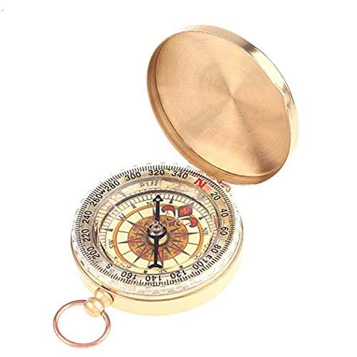 Nikeol Military Kompass Glühen im Dunkeln, DLAND Portable Taschenuhr Flip-Open Kompass wasserdicht für Camping, Wandern und andere Outdoor-Aktivitäten