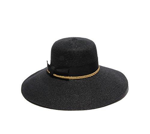 physician-endorsed-womens-toyo-santorini-with-ribbon-gold-braid-trim-rated-upf-50-black-gold-one-siz