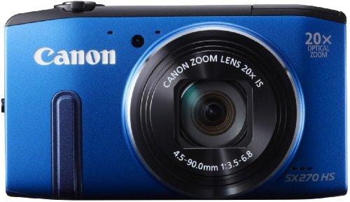 Canon PowerShot SX 270 HS Digitalkamera (12 MP, 20-Fach Opt. Zoom, 7,6cm (3 Zoll) LCD-Display, bildstabilisiert) blau -