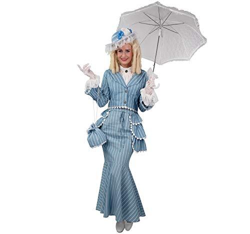 Kostüm 1800 Jahrhundert - Biedermeier Dame, hellblau (Jacke, Rock, Schößchen)