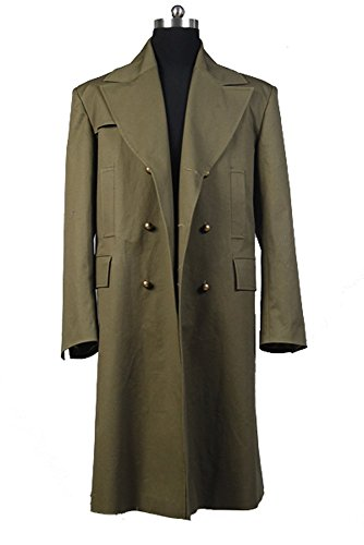Doctor Who Dr. Dark Ecru Brown Long Trench Coat Cosplay Kostüm Herren (Who Doctor Kostüm Zehn)
