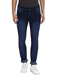 Urbano Fashion Men's Dark Blue Slim Fit Stretchable Jeans