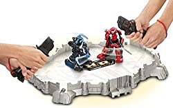 Battroborg Warrior Battle Arena; Samurai v Ninja-Cool Plastic Playset with controllers and Interchangeable Weapons- Perfect Christmas gift for Kids- Battery operated Toy Collectibles for children 6 years and Up