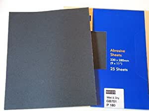 25 x Wet and Dry Silicone Carbide Abrasive SandPaper Sheets Metal Plastic Wood Stone Grit: 100 120 180 240 280 320 360 400 600 800 1000 1200 SANDING FINISHING POLISHING