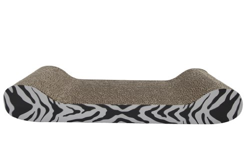 Catit Tiger Design Patterned Scratching Board with Catnip, Lounge 2