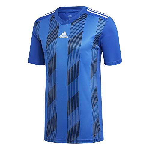 Adidas striped 19 jsy, t-shirt uomo, bold blue/white, 1112