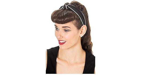 Banned No Talking Vintage Retro Headband Red Rockabilly Pin up