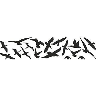Vogelschutz und Fensterschutz 18er Set Vogel Aufkleber Warnvögel, Wintergarten, wetterfest
