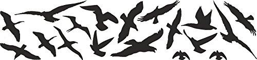 Vogelschutz und Fensterschutz 18er Set Vogel Aufkleber Warnvögel, Wintergarten, wetterfest -