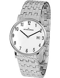 Jacques Lemans Vienna – Reloj de pulsera analógico unisex de cuarzo Acero inoxidable 1 – 1848 F