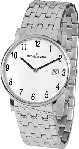 Jacques Lemans Unisex Watch Vienna Analogue Quartz Stainless Steel 1 – 1848 °F