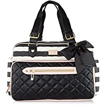 Betsey Johnson 3pc Downtown Multi-Function Diaper Tote Bag with Changing Mat