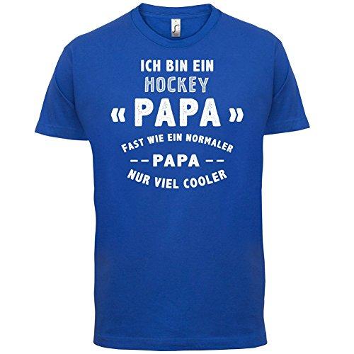 Ich bin ein Hockey Papa - Herren T-Shirt - Royalblau - M (Schienbeinschützer Bekleidung)