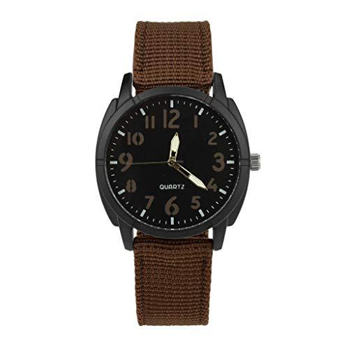 YEARNLY neue schlanke minimalistische Herren- und Damenuhren im Retro-Design Nylon-Gürtel aus legierter Quarz-Uhr Schwarz, Blau, Grün, Braun