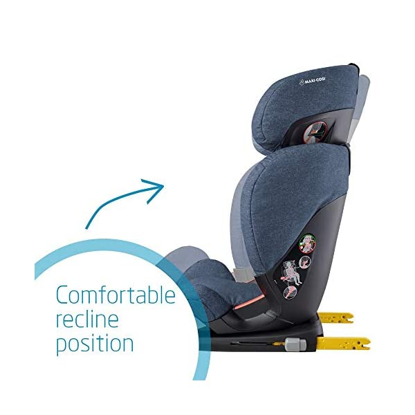 Maxi-Cosi RodiFix AirProtect Child Car Seat, ISOFIX Booster Seat, Extra Protection, 3.5-12 Years, 15-36 kg, Nomad Blue Maxi-Cosi Booster car seat for children from 15 to 36 kg (3.5 to 12 years) Grows along with your child thanks to the easy headrest and backrest adjustment from the top Patented AirProtect technology for extra protection of child's head 4