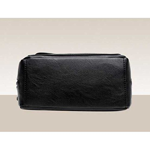 Damenmode Persönlichkeit Schultertasche Messenger Bag Black