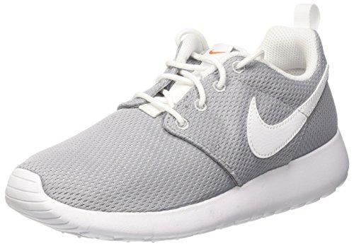 Nike Kinder und Jugendliche Roshe One GS Laufschuhe, Grau (Wolf Grey/White/Safety Orange), 38.5 EU (Schuhe Run Roshe Kinder Nike)