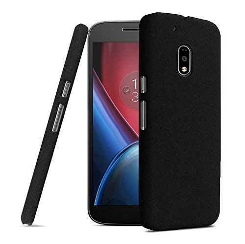 Tarkan QuickSand Moto G4 PLAY Case: Matte Slim Hard PC Bumper Back Cover For G Play 4th Gen. [Sandstone Black]