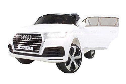 Kinder Elektroauto Audi Q7 HIGHDOOR SUV Lizenziert Modell 2016 Kinderauto Kinderfahrzeug Elektro Auto Spielzeug Für Kinder (Weiß)