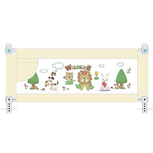HAIZHEN Kinderbettschutz , Extrabreite Hochbettschiene Bettschutzgitter-Sicherheitsschutzgitter for Kleinkindbabys (Color : Beige, Size : 80cm)