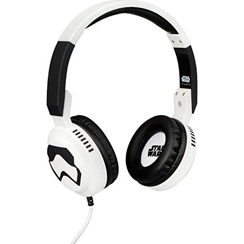 Star Wars Stereo On-Ear Kopfhörer mit Mikrofon und Lautstärkeregler für Handy - Stormtrooper, Tribe HPW13001