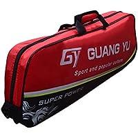 Starter Bolsas de bádminton Bolsas de hombro Paquete de 3 Bolsas de bádminton para todos los niveles Jugadores A Tamaño rojo/negro