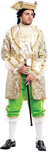 Costume di carnevale da conte del 700 di francia vestito per uomo adulti travestimento veneziano halloween cosplay festa party 4487 taglia s
