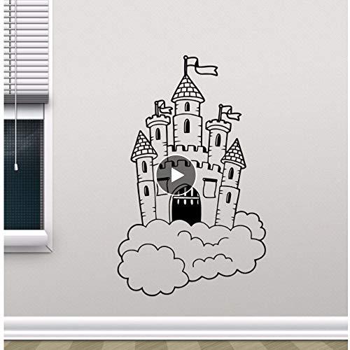 rg In Wolken Wandtattoo Kindergarten Wandbild Kinder Schlafzimmer Dekor Magic Kingdom Vinyl Aufkleber Kinderzimmer Dekor 379 ()
