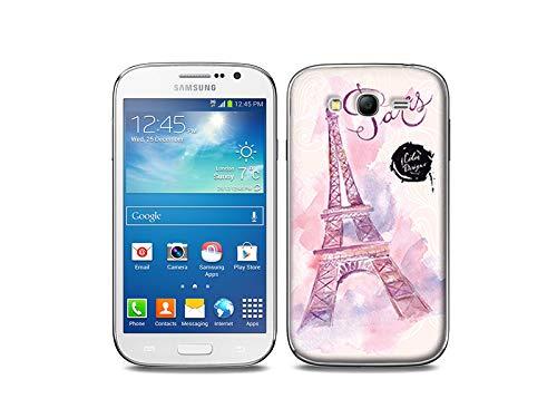 etuo Samsung Galaxy Grand Neo - Hülle, Silikon, Gummi Schutzhülle - Rosa Eiffelturm