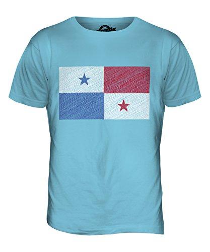 CandyMix Panama Kritzelte Flagge Herren T Shirt Himmelblau