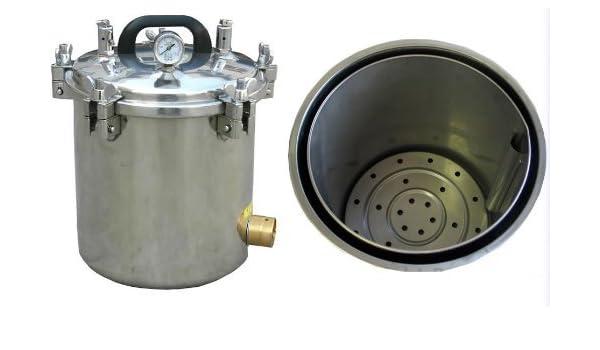 Buy 12l Liter Portable Autoclave Steam Sterilizer For