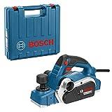 Bosch Professional 06015A4300 Professional Handhobel GHO 26-82 D, Parallelanschlag, Sechskantstiftschlüssel SW 2,5, Stoffstaubbeutel, Koffer 710 W, 230 V, Schwarz, Blau, Silber