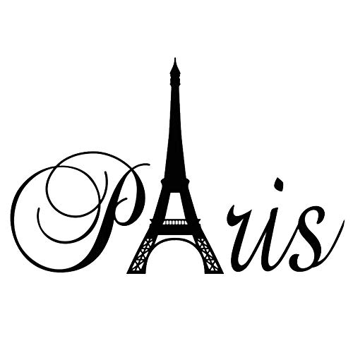 Preisvergleich Produktbild YUJIANF Paris Turm Wandaufkleber Wandhauptdekor Vinyl DecalSize: 60 * 40 CM