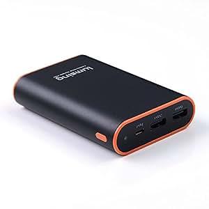 """Lumsing®Batterie externe """"Grand A1 Fit"""" Power Bank 10050mAh Chargeur de Batterie Portable Ultra 2 ports avec recharge USB intelligente rapide pour iPhone 6S/6S Plus/6/6 Plus/5S/5C/5, iPad Air, iPad Mini, iPad Retina, Samsung, Nokia et plus - Noir"""