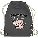 Karneval & Fasching Kinder - Schweinhorn - Unisize - Dunkelgrau - WM110 - Turnbeutel & Gym Bag