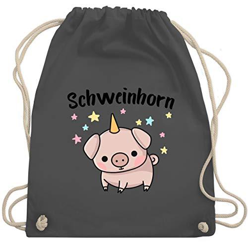 Kinder - Schweinhorn - Unisize - Dunkelgrau - WM110 - Turnbeutel & Gym Bag ()