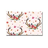Hipiyoled 20'X30' Pillow Covers Flower Antlers Artistic Illustration Double Printed...
