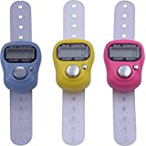 Shopo's 3pcs Hand Finger Tally Counter Digital Electronic Counter - Color Assorted