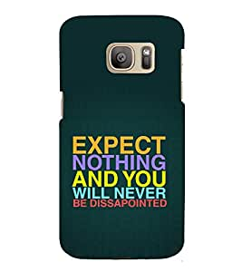 printtech Cool Quotes Success Back Case Cover for Samsung Galaxy S7 edge / Samsung Galaxy S7 edge Duos with dual-SIM card slots