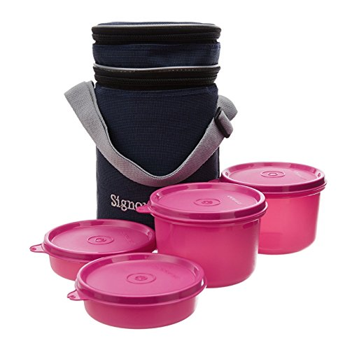 Signoraware Executive Lunch Box with Bag Pink