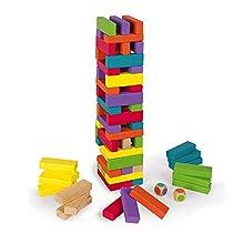 Janod Giochi di società Equilibloc Color (Legno), 3-10 Anni, Multicolore, J02012